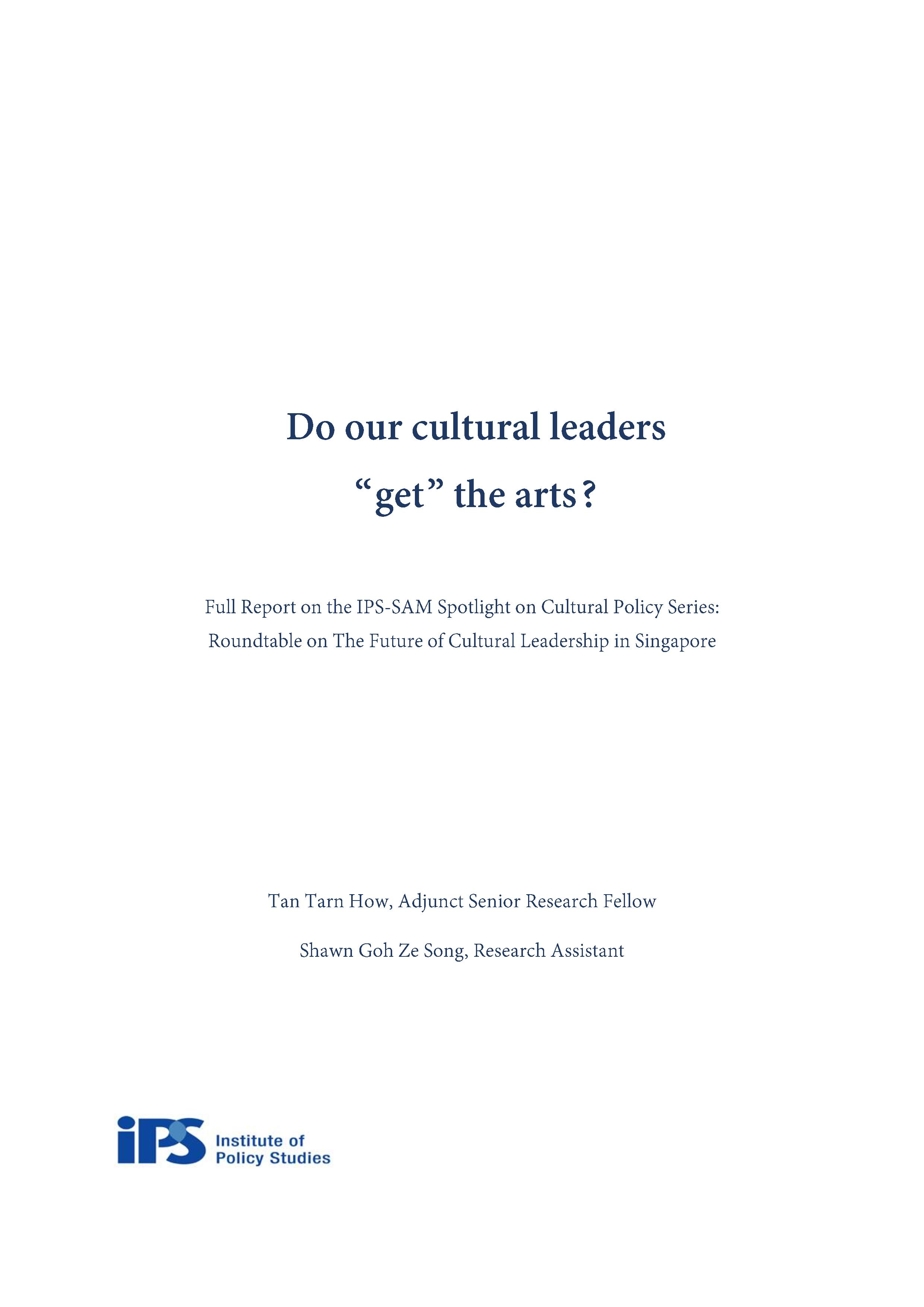 Report IPS SAM Roundtable on The Future of cultural leadership